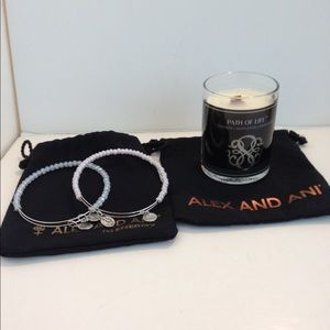 Alex and ani  bracelets and candle lot